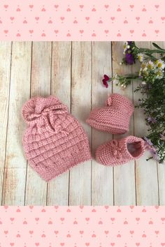 Hat for girl, autumn baby hat, knitted baby hat, winter baby hat Knitted Dolls, Crochet Toys, Knitted Hats, Crochet Baby, Handmade Decorations, Handmade Crafts, Handmade Ideas, Etsy Handmade, Knitted Baby Clothes