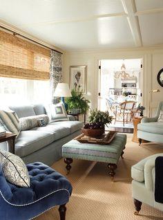 West Elm Spring...cozy family room or den. .
