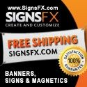 """SignsFX provides our customers with the power to create and customize thier own unique product. Our templates and online """"create and customize"""" tool allows you to become the designer without incurring expensive design fees or set up costs. $0.00 USD"""
