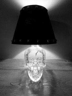 Midnight Mayhem-I have the skull vodka bottle already! Ill be making one soon Skull Decor, Skull Art, Skull Head, Goth Home Decor, Diy Home Decor, Skull Vodka Bottle, Skull Bedroom, Skull Furniture, Gothic House