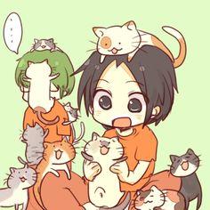 So cute Takao, I wonder what the face of Midorima looks like? (Kuroko no Basket) Kazunari Takao and Shintarou Midorima