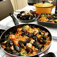 """""""Chef Dora • me • first time making paella, stew beef and baked vegetables dinner • #charliehoopy #wishyouwerehere  #dinner #cookwithlove #yummy #cooking"""""""