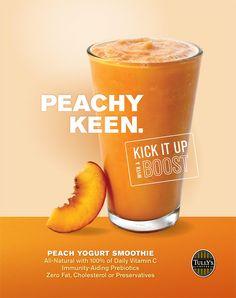 smoothie Food Graphic Design, Food Poster Design, Food Menu Design, Peach Yogurt Smoothie, Veggie Smoothie Recipes, Thai Milk Tea, Daily Vitamins, Food Concept, Drink Menu