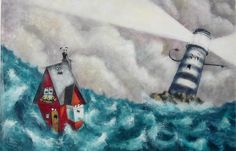 Kai Fine Art is an art website, shows painting and illustration works all over the world. Lee White, Lighthouse Art, Children's Picture Books, Children's Book Illustration, Art Pictures, Art Inspo, Childrens Books, Whimsical, Arts And Crafts