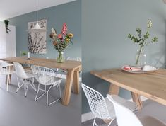 Dining Room, Dining Table, Granny Flat, Colours, Interior Design, Kitchen, Painting, Furniture, Home Decor