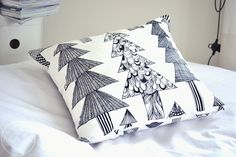 Kuusikossa -cushion by Marimekko Marimekko, Decoration, Cushions, Throw Pillows, Quilts, Blanket, Christmas Ideas, Magic, Home