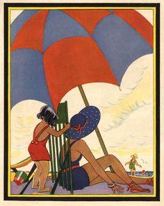 beach | Keywords | Free Vintage Graphics