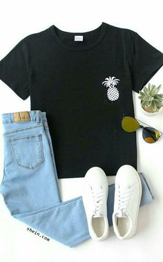 süße Schuloutfits für 2018 - - New Ideas Cute Outfits For School, Cute Casual Outfits, Outfits For Teens, Fall Outfits, Summer Outfits, T Shirt Outfits, Clothes For Tweens, Clothes Sale, Summer Dresses