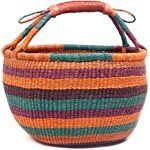 African Market Basket - Ghana Bolga - 15.5 Inches Across - #49288