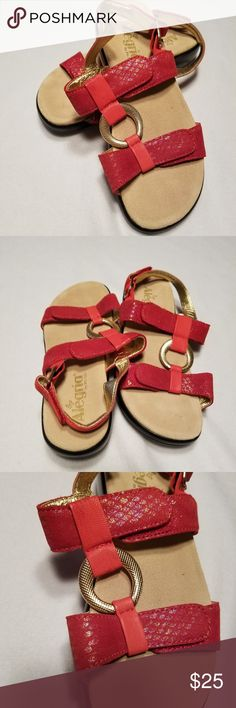 f4ceb78b35c0 Pink Alegria Sandals with Gold Embellishments A fun summer sandal. Goes  great with shorts and