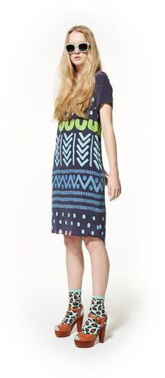 sun over corn tee dress, blink sunglasses & running from the sun heel http://www.gormanshop.com.au/