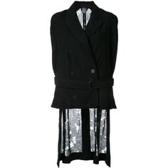 Ann Demeulemeester Silkwood cape (1,900 CAD) ❤ liked on Polyvore featuring outerwear, black, ann demeulemeester and cape coat