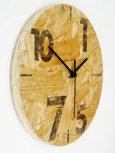 Diy Osb Uhr 02 Improving Our Landscape Images. Oriented Strand Board, Handmade Furniture, Diy Furniture, Osb Plywood, Osb Board, Unusual Clocks, Industrial Office Design, Ideias Diy, Diy Clock
