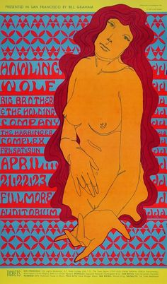Howlin' Wolf Vintage Concert Poster from Fillmore Auditorium, Apr 21, 1967 at Wolfgang's Wes Wilson, Fillmore Auditorium, Fillmore West, Bill Graham, Vintage Concert Posters, Vintage Posters, Holding Company, Rock Posters, Art Posters