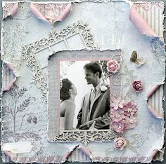 I Do *Swirlydoos*. Falling in Love Layout. In love layout. Wedding Scrapbook Pages, Bridal Shower Scrapbook, Birthday Scrapbook, Scrapbook Page Layouts, Scrapbook Albums, Scrapbook Cards, Shabby, Wedding Album, Wedding Cards