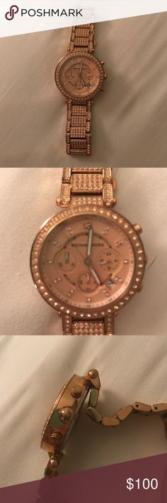 Michael Kors Rose Gold Glitz Parker Woman's Watch Michael Kors woman's watch. Rose gold. Few imperfections. Stainless steel. MK 5663 Michael Kors Accessories Watches