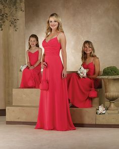 Watermelon coloured bridesmaid dress ideas?