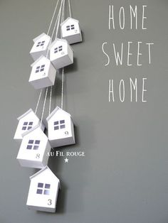 Home sweet home - au Fil rouge Ceramic Houses, Theme Noel, Idee Diy, Paper Houses, Little Houses, Small Houses, Home And Deco, Diy Home Crafts, Autumn Home