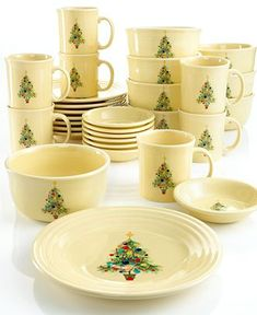Fiesta Dinnerware Christmas Tree pattern available in August 2016 ...