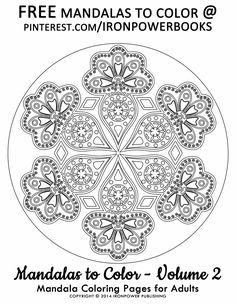 awesome coloring pages for adults free mandalas to color follow ironpowerbooks for more - Intricate Mandalas Coloring Pages