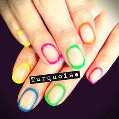 Neon Circular Nail Art | Colorful | Bright Nails | Unique Nail Art | Asami33 | Turquoise Salon | NAILPRO Magazine