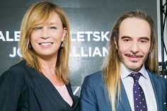John Galliano and Alena Doletskaya in Moscow, May 2016, talking about new luxury, Galliano line for Letoile.
