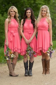 Bridesmaid Dress A-line Watermelon Mini Short Chiffon Bridesmaid Dresses sold by cutebridal. Shop more products from cutebridal on Storenvy, the home of independent small businesses all over the world.