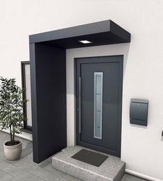 Gutta BS 200 rectangular canopy with side panel- Gutta BS 200 Rechteckvordach mit Seitenteil Gutta BS 160 rectangular canopy with side panel - Door Gate Design, Main Door Design, Wooden Door Design, House Front Design, Entrance Design, Modern House Design, Modern House Facades, Modern Entrance Door, Home Entrance Decor