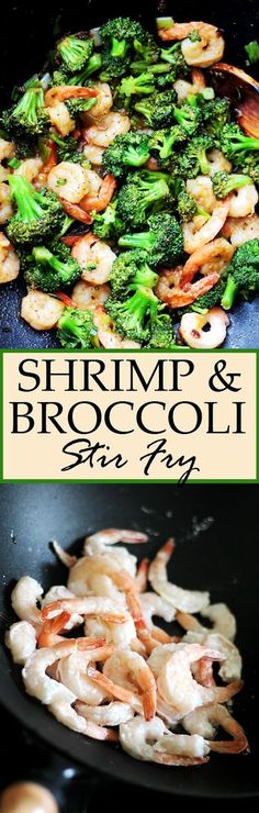 Shrimp and Broccoli Stir Fry. Sweet and sour garlicky and delicious this Shrimp and Broccoli Stir Fry is so easy to make and it only takes 20 minutes from start to finish! Stir Fry Recipes, Fish Recipes, Seafood Recipes, Asian Recipes, Dinner Recipes, Cooking Recipes, Healthy Recipes, Healthy Shrimp Recipes, Shrimp And Rice Recipes