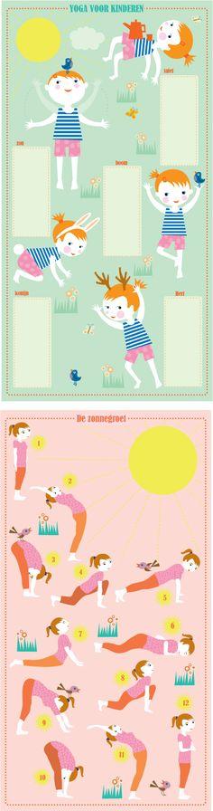 Voor het Flow Vakantieboek 2011 maak ik een yoga poster. Aan de ene kant is het een kinderposter en aan de andere kant de zonnegroet in twaalf stappen. Hier alvast een voorproefje van de illustrati...