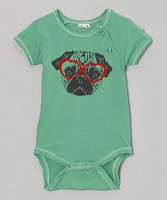 2b73873af55 Teal Pug Organic Bodysuit - Infant