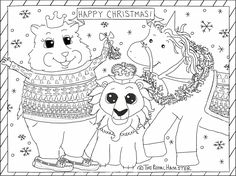 Displaying The Royal Hamster Christmas Coloring Portrait.png