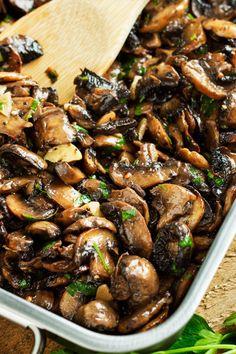 Baked Garlic Parsley Mushrooms