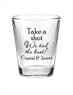 144 Custom 1.5oz Wedding Favor Glass Shot Glasses by Factory21