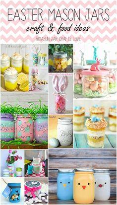 Easter in Mason Jars - Easter Craft Ideas - Mason Jar Crafts for Easter - Easter Crafts with Mason Jars