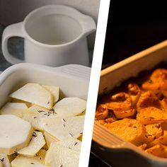 Zapečené maso sbramborem asmetanou | Koření od Antonína Snack Recipes, Snacks, Korn, Chips, Snack Mix Recipes, Appetizer Recipes, Appetizers, Potato Chip, Potato Chips