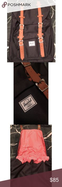 """Herschel Supply """"LITTLE AMERICA"""" Backpack Used once for my first semester of college two years ago but I switched to a tote since that's what I'm more comfortable with. I haven't touched it since, which explains why it looks and feels brand new. This backpack is expensive on its own and it looks like it has a lot of value, hence my pricing. ☺ I WILL ACCEPT OFFERS JUST THIS ONCE, but please no lowballing. That's why I stopped taking offers in the first place 😞 Herschel Supply Company Bags…"""