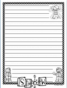 Free Animal Writing Paper Printables  Writing Paper Free And Dog
