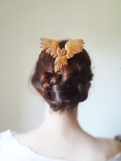 back to school-the flying owl hair fork by theancientmuse on Etsy