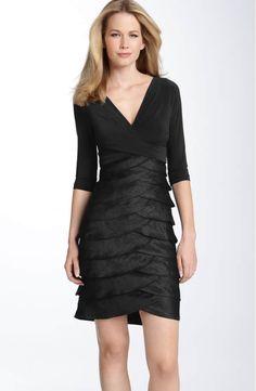 f08656f09d03 Adrianna Papell Matte Jersey & Hammered Satin Sheath Dress | Nordstrom