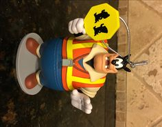 """Disney Store Ornament PETE 4"""" Toy Mickey Mouse Clubhouse Crossing Guard RARE by DisneyDad29 on Etsy"""