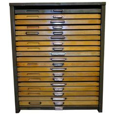1920s Letterpress Printers Cabinet with Types 1