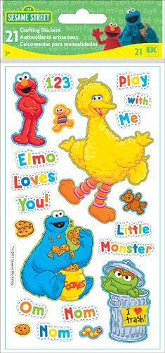 EK Success - Sesame Street Collection - 3 Dimensional Puffy Stickers - Sesame Street at Scrapbook.com $2.74