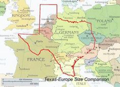 Texas compared to Europe | GOD bless Texas!