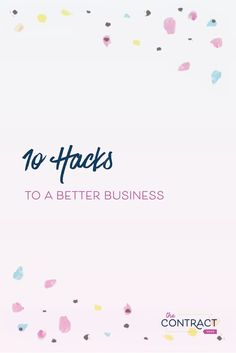 Whether you're a new business owner or a seasoned one, you will have a slow season. Here are 10 hacks to a better business, so you can get more clients and be more focused. #smallbusiness #creativeentrepreneur  #businesstips