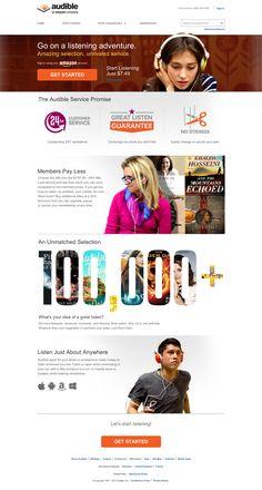 audible web design
