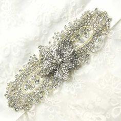 Large Flower Bridal SashWedding BeltCute Bow by whitegardenlace, $44.99