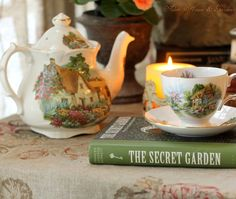 Aiken House & Gardens: An English Sunday Afternoon Tea- Theme: The Secret Garden Mourning Dove, Tea And Books, Storybook Cottage, Cuppa Tea, Cozy Cottage, Irish Cottage, Romantic Cottage, Garden Cottage, White Cottage