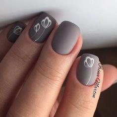 essie nail polish, go go geisha, light pink nail polish, fl. Simple Nail Art Designs, Acrylic Nail Designs, Acrylic Nails, Stylish Nails, Trendy Nails, Grey Matte Nails, Nagellack Design, Super Nails, Flower Nails