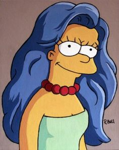 Marge Simpson with her hair down.